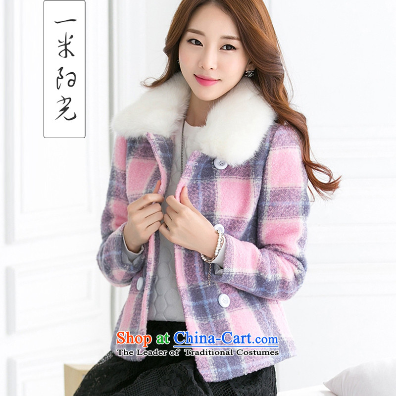 One meter Sunshine聽  2015 Fall_Winter Collections new gross female Korean jacket is checked short of the amount for female pink coat?聽S