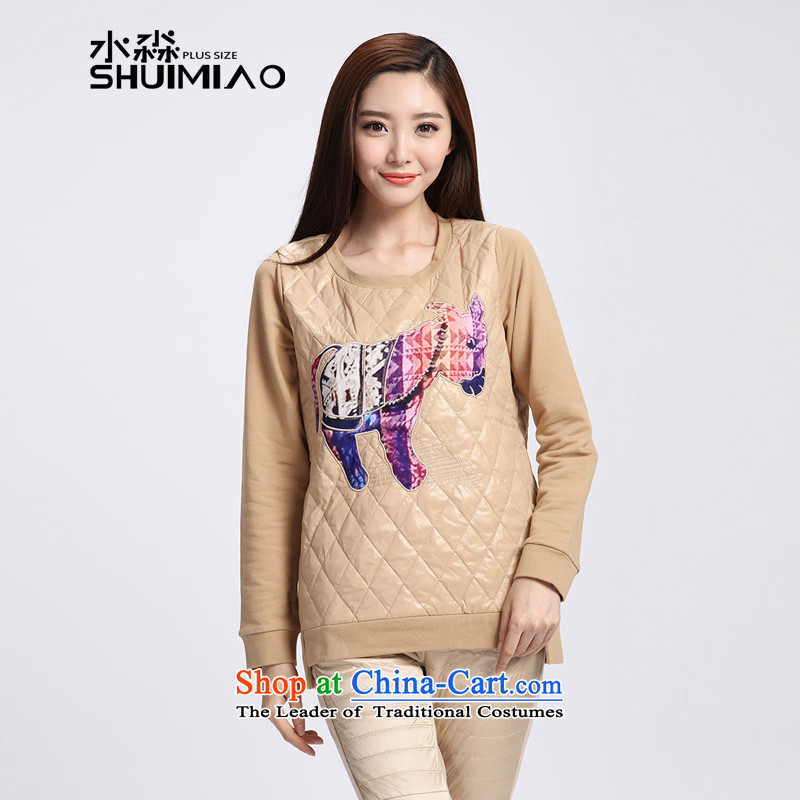 The representative of the water for larger 2015 women Fall/Winter Collections sweater girl long-sleeved Pullover loose long-sleeved T-shirt female S15DK5567 card its XXL