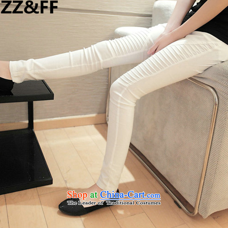 Install the latest Autumn 2015 Zz&ff Korean Version) to increase the number of female 200MM thick forming the catty trousers and pants women warranty stylish large white XXXL code