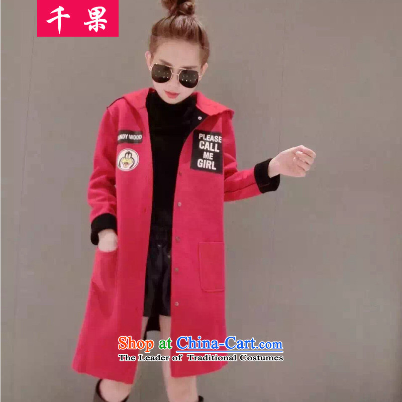 Thousands of autumn and winter fruit thick mm a wool coat to increase women's code 200 catties thick sister in Sau San long thin foil stamp video? 5781 Red 5XL175-215 jacket around 922.747