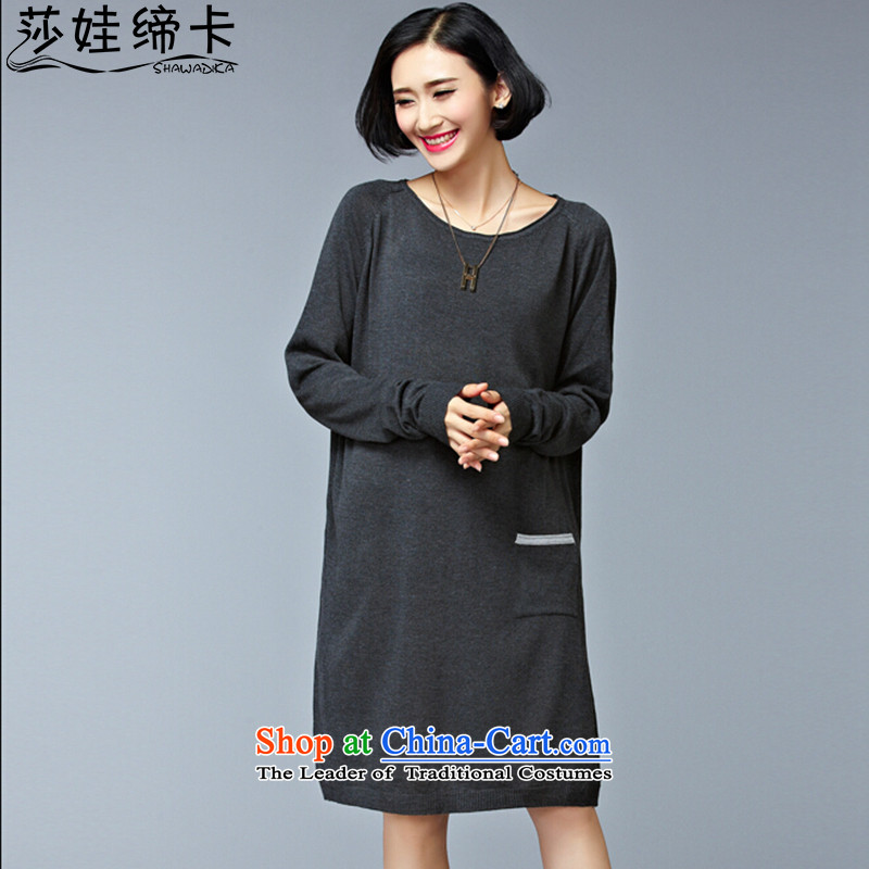 Elisabeth wa girls who enter into card thick graphics thin, women's clothing, forming the load of the Netherlands women fall to female Korean Knitted Shirt large 2015 Fertilizer women sweater female midwives kit and large gray numbers are Code100 to 165