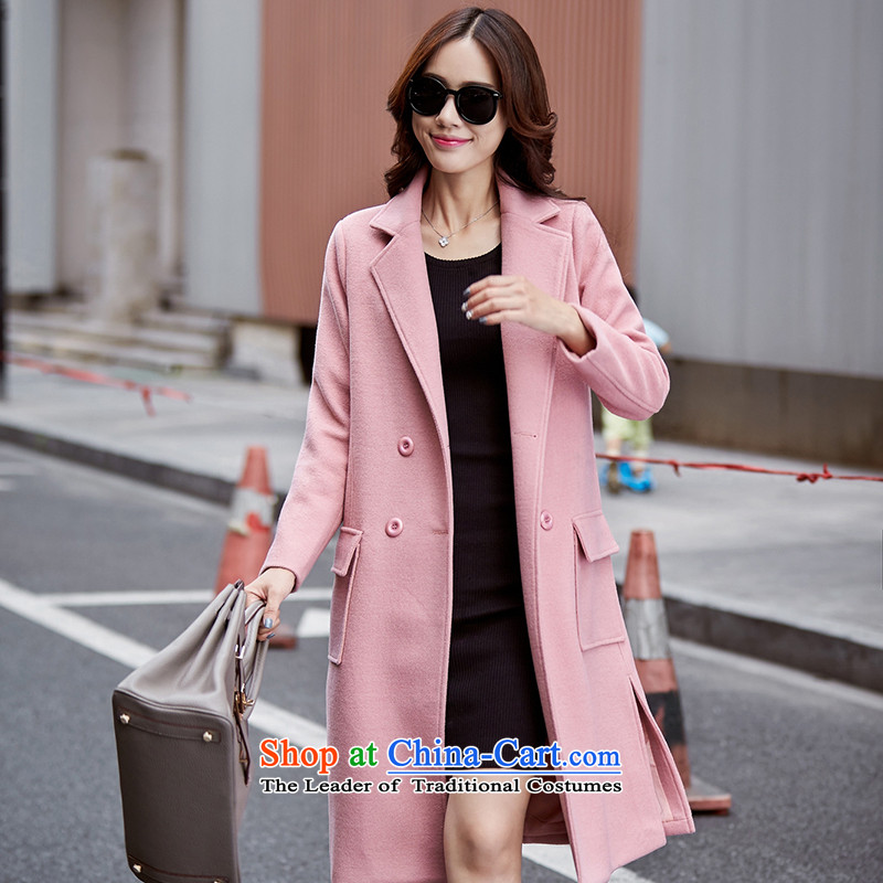 The large-Atlas Copco Video in thin long hair? COAT 1516 pink L