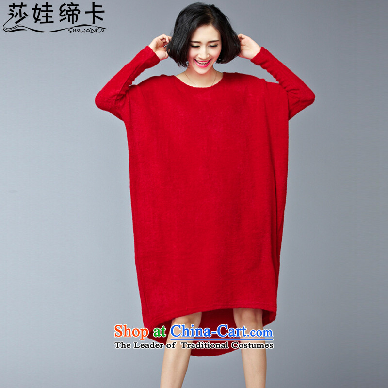 Elizabeth was indeed concluded wa card Korean womens loose version sweaters to intensify the skirt autumn large 2015 mm thick xl women, Hin thick thin dresses large red are Code�0 to 250 catties can penetrate