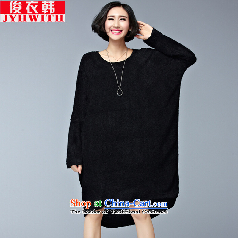 Mr James TIEN Yi Won to xl women 200 catties thick girls' graphics, Ms. Winter Sweater thin thick mm knitwear kit and Tien larger dresses dm black large numbers are Code 100 to 250 catties can penetrate