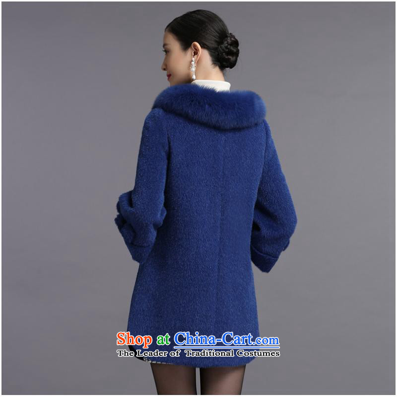 Non-marking cashmere overcoat years female 2015 new wool coat fox gross for? premium brands, winter counters genuine hibiscus purple M years non-marking (SUIYUEWUHEN) , , , shopping on the Internet
