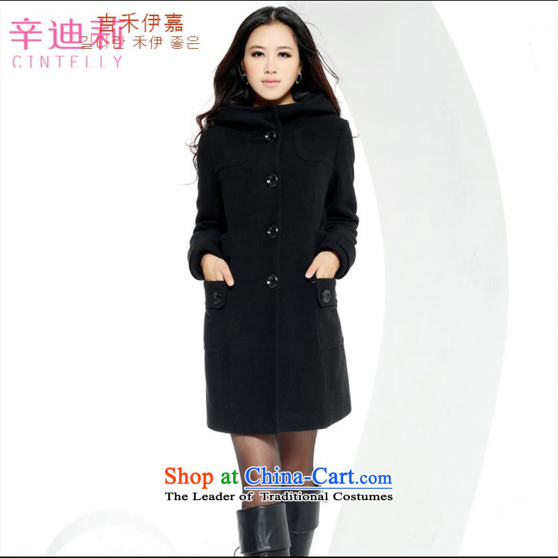 Gil Wo Ika 2015 Fall_Winter Collections new genuine cashmere overcoat, Sau San video thin long high gross overcoats stylish girl? wild Black M