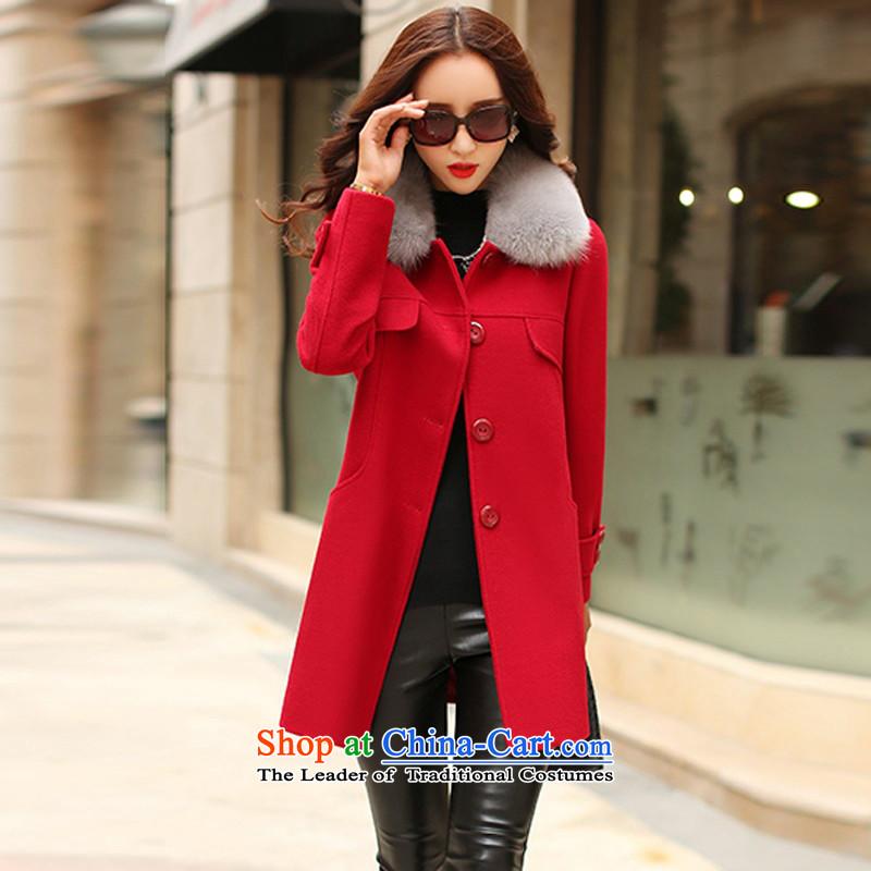 Arthur magic yi2015 Fall/Winter Collections New Sau San Mao coats women won? version for warm Gross Gross a jacket female autumn red L