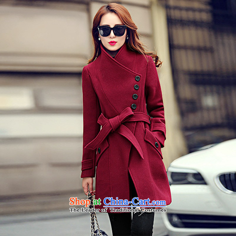 Arthur magic yi 2015 Fall/Winter Collections New Sau San Mao coats women won? Edition tether collar in long thin hair a graphics jacket female red L