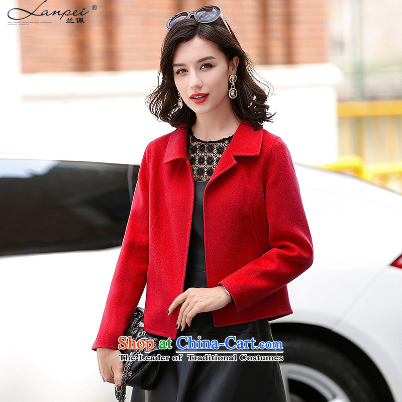 Estimated 2015 Autumn Load New Pei, short of female Korean jacket?   Graphics thin coat of double-side? The children of redM