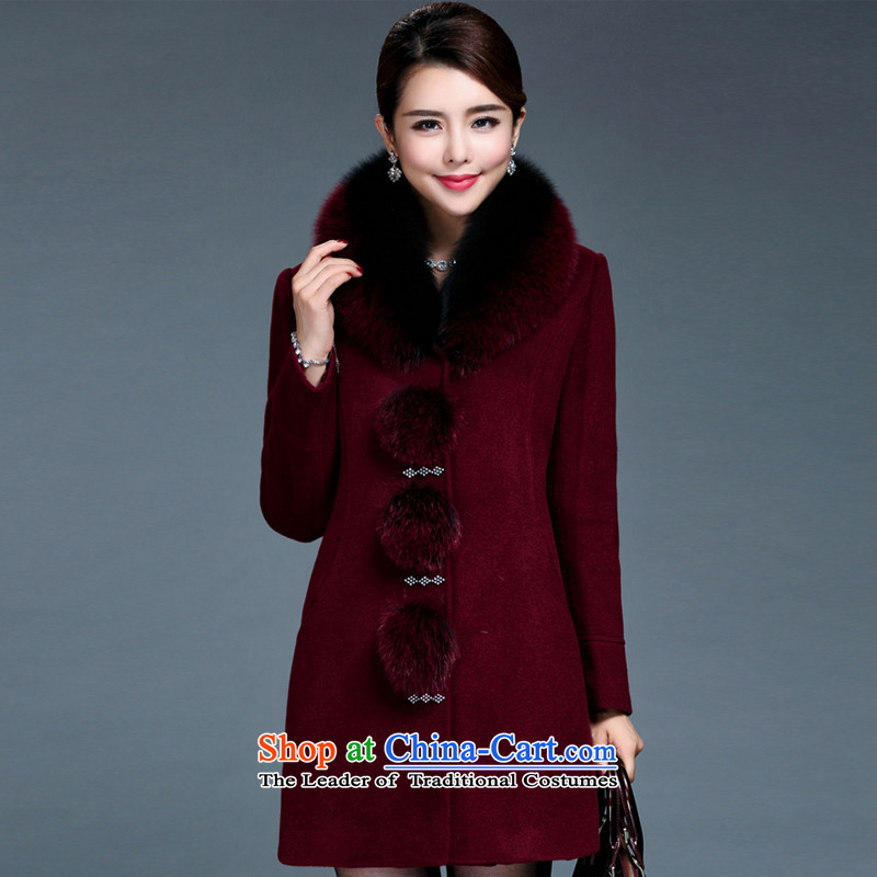 Mineau Xuan 2015 autumn and winter New Gross Gross washable wool coat燢562?燘OURDEAUX燲XL