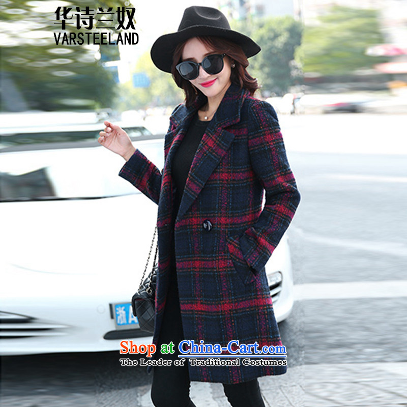 China, slave 2015 autumn and winter new women in Korean long hair Sau San? coats of female D088 RED L