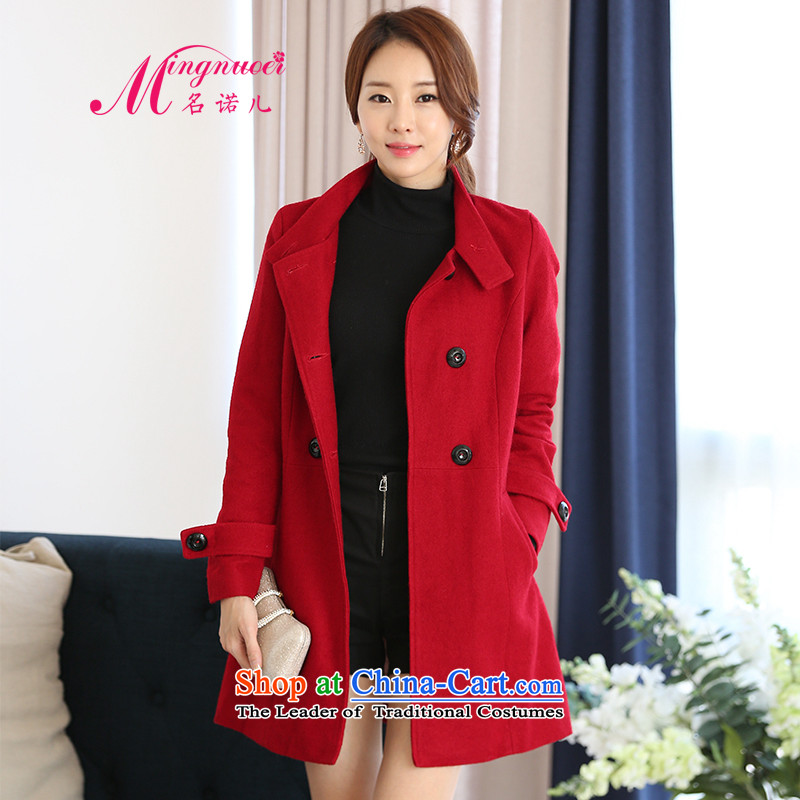 Name of the child-care wool coat girl in gross? Long2015 new Korean autumn and winter Europe a student? The Coat1617 RedL