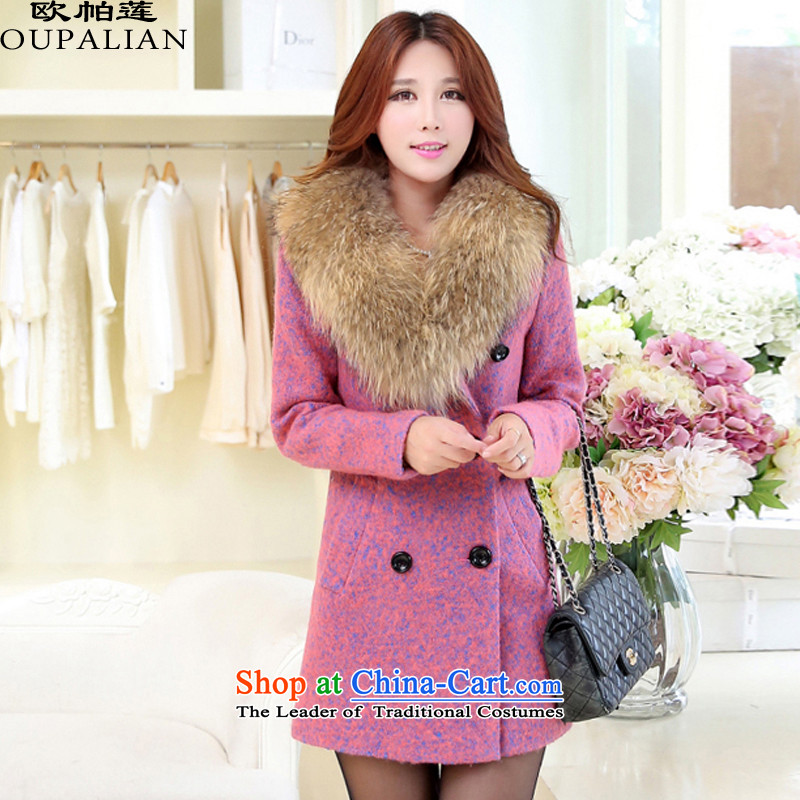 Opava-three Lin? 2015 autumn and winter coats of Korean version of the new headquarters in Sau San? female jacket coat 2358 IN RED M