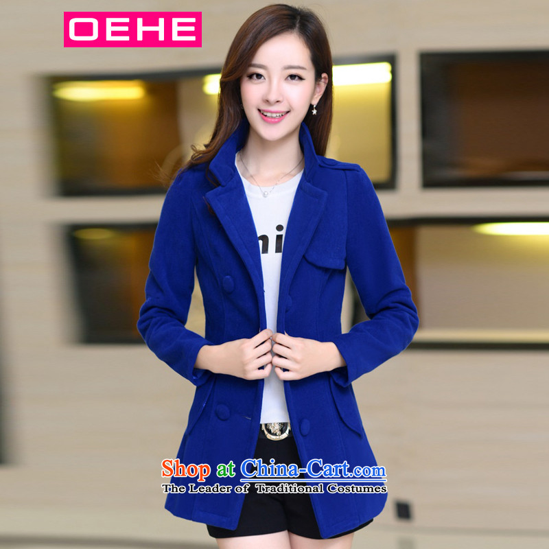Oehe 2015 winter clothing new Korean version in Sau San long jacket, stylish girl video thin lapel long-sleeved coats Po, gross? L