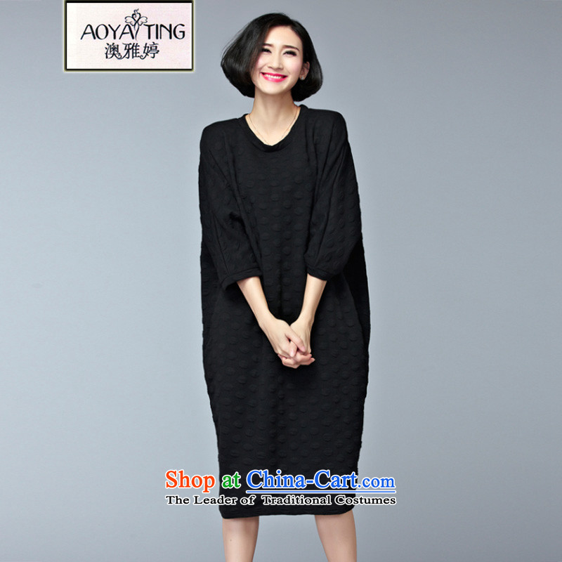 O Ya-ting xl women 2015 autumn and winter new mm thick Korean Version) hedging slender sweater leisure dresses easing black large editions are Code 200 catties of recommends that you