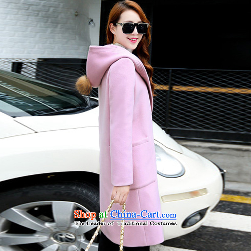 100 Yi section gross jacket female autumn and winter?) Autumn 2015 for women Korean female coats of Sau San Mao? 6868 m Gray聽L, 100 Section has been pressed clothes shopping on the Internet