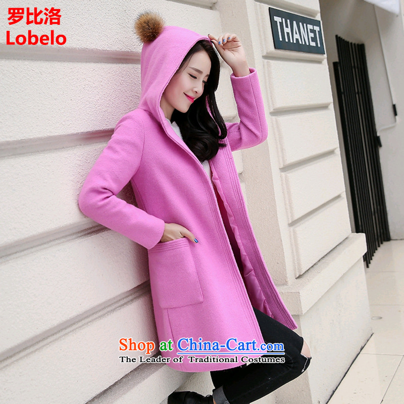Mr Law than the�15 winter clothing new Korean version of a jacket in Sau San long warm winter coats women gross? pink燤