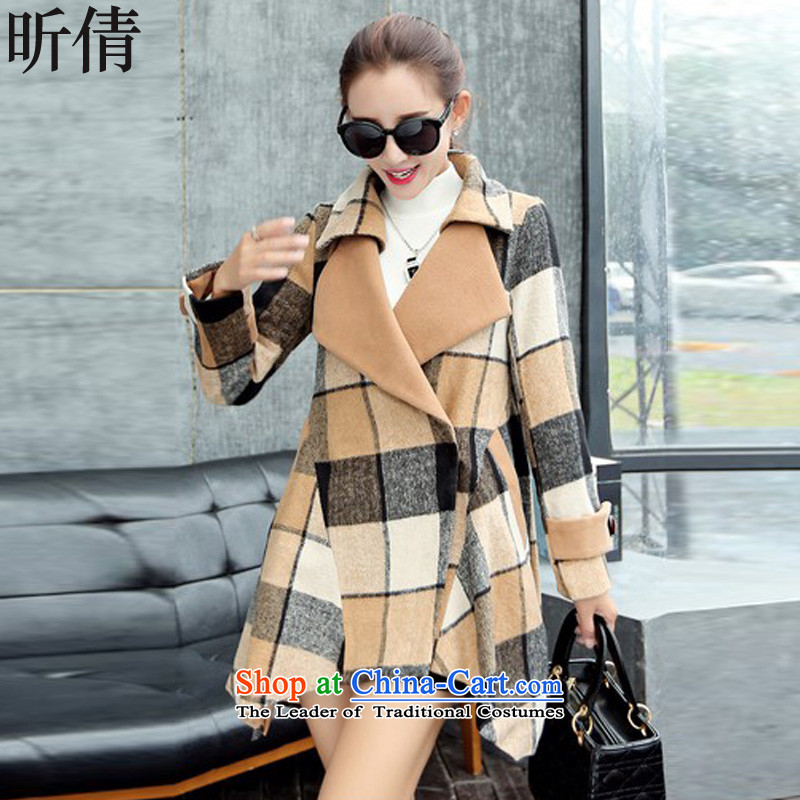 Xin Qian 2015 autumn and winter female new Korean large Sau San? In coats Long Hoodie a wool coat jacket coat? female gross爔0462爏uit燣