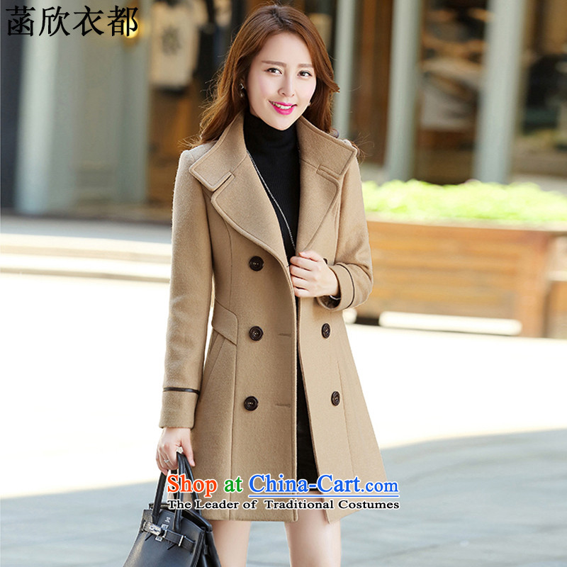On the basis of Yan Yi 2015 autumn and winter load is the new Korean version of major, long-Sau San code female double-coats female F2388 gross?-聽L