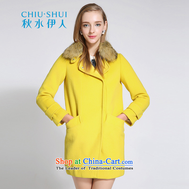Chaplain who winter clothing new women's elegant solid color can be shirked their daughter gross for straight hair long-sleeved yellow�5_96A_XXL cloak?