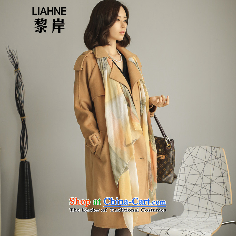 Lai offshore manual two-sided? autumn and winter coats women 2015 new Korean brands in Long Hoodie gross? Women 5337 jacket and color S