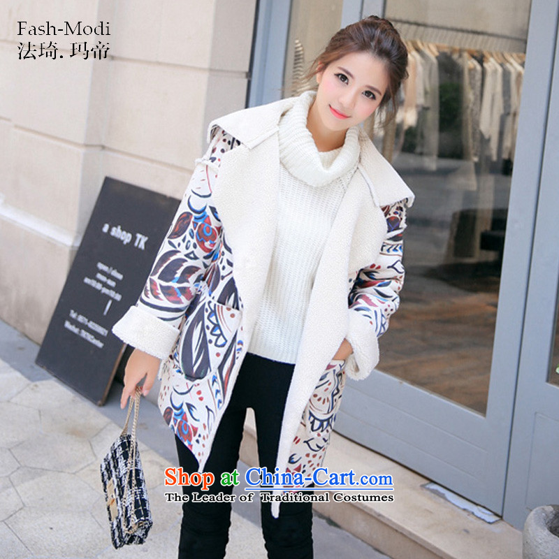 The law was the 2015 Winter Qi new Korean version of Sau San Lamb Wool thick hair? coats female stamp a jacket for autumn and winter picture color S
