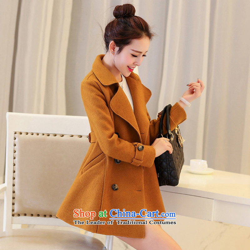 2015 Fall for women Korean lapel in Sau San long hair? coats燼nd color燬 date benefited 2,657 Jacket