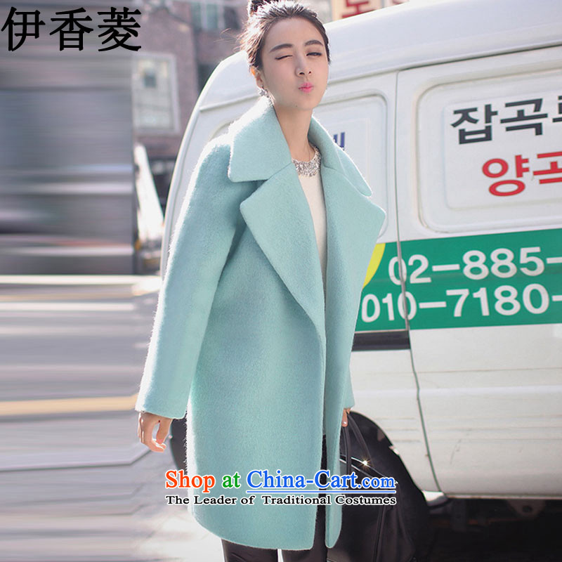 Ikago Ling 2015 Fall/Winter Collections new women's decoration coats that they deal with long hair? coats female latticedY8061mint greenL