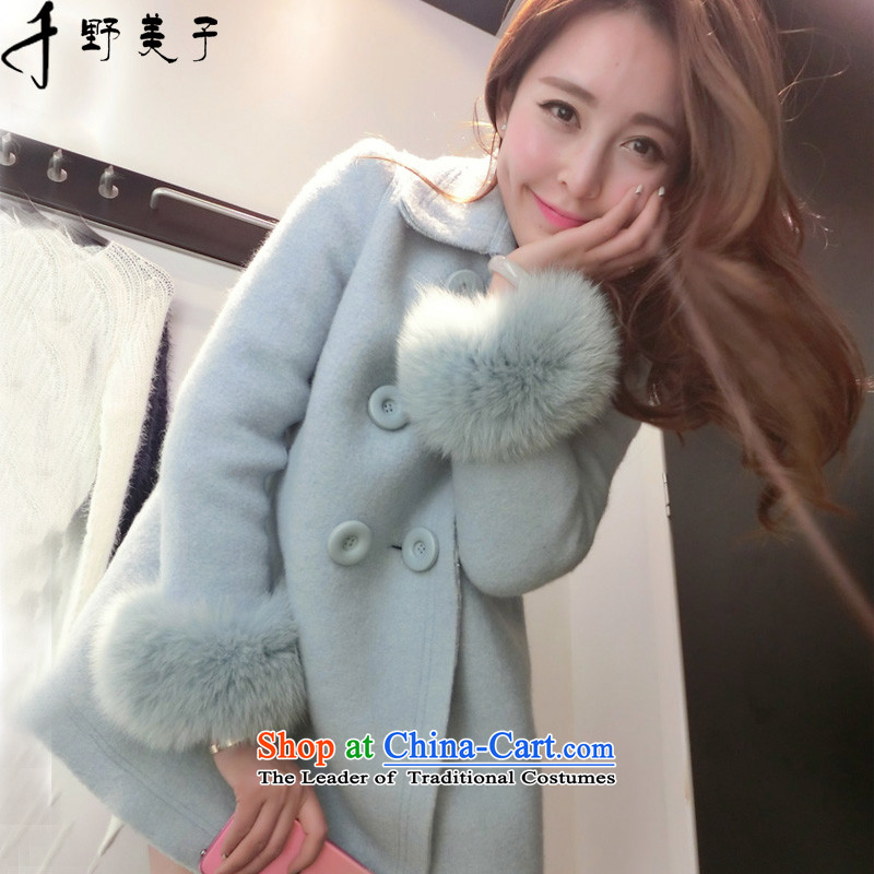 Chino Fumiko larger female winter coats, wool is double-A-jacket color picture female? XL around 922.747 110-125