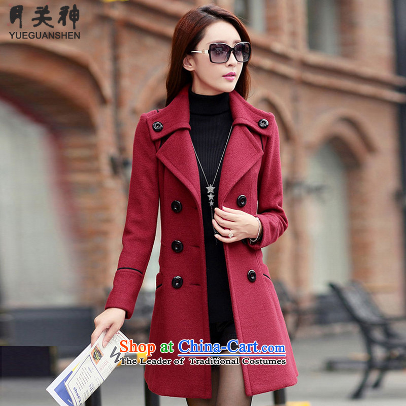 On God? jacket women 2015 gross fall for women Fall/Winter Collections new Korean Sau San over the medium to longer term gross coats female 9600A? wine red   XL