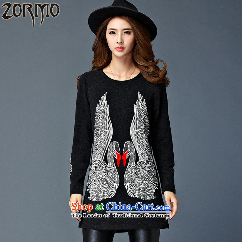The new winter 2015 ZORMO Korea lint-free to wear the shirt, XL, long swan knit-color photo�L