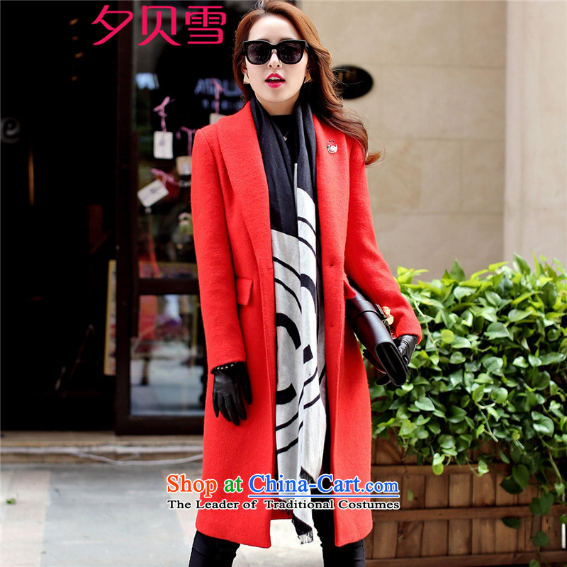 Overnight snow fall 2015 Addis Ababa new product version won? coats women Sau San Mao long stylish Wild Hair? jacket female Red Winter燲XL