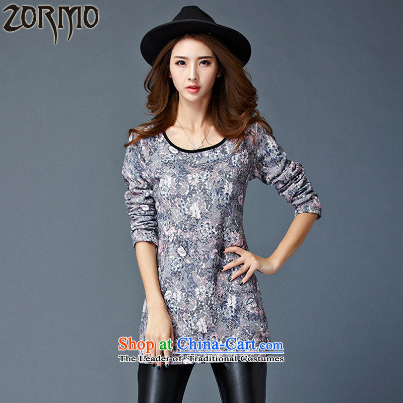The new winter 2015 ZORMO not stamp forming the thick wool sweater in large mm thick long thermal underwear gray燲XL