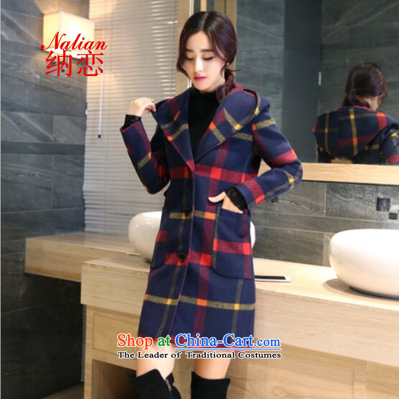 The land of� autumn and winter 2015 Women's new Korean version of a Korean version of gross? jacket coat women gross Sau San? Picture red and yellow color of燣