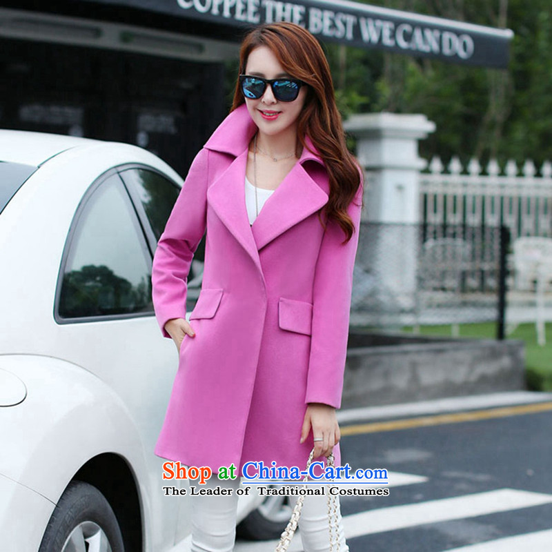 Sin has been爈oaded for autumn and winter 2015 Korean temperament and stylish solid color graphics thin hair? Simple girl commercial jacket toner� XXL