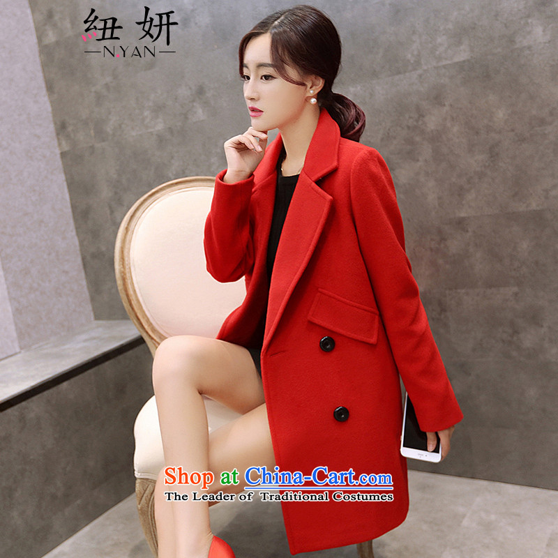 Nz Charlene Choi聽2015 Fall_Winter Collections in the new Korean long suit for Gross Gross Jacket coat it? female聽2002聽Carmine聽L