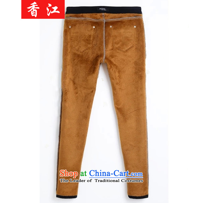 Xiang Jiang 2015 increased to large pants pencil female thick mm autumn replacing new jeans thick sister plus extra thick solid elastic trousers, lint-free 2123 Plus_ for larger lint-free 4XL