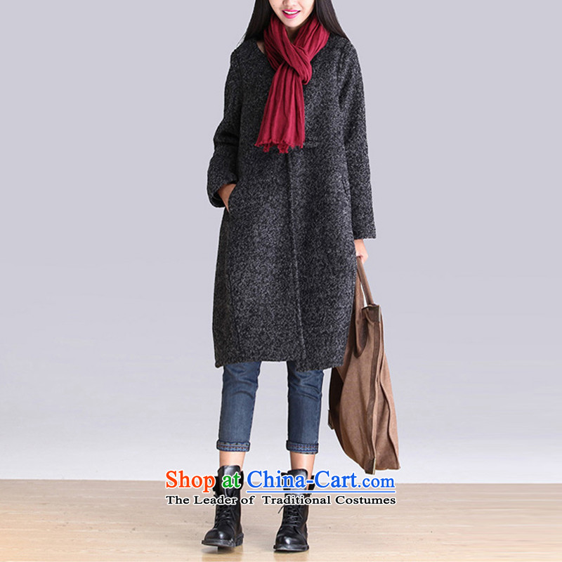 Equipment clothes for larger loose hair? coats that long jacket, gray燤