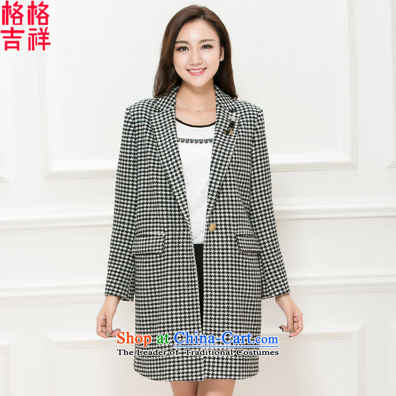 The interpolator auspicious xl women 2015 Fall/Winter Collections new thick mm thin hair? coats graphics stylish suit for gross is checked K5860 picture color3XL Jacket