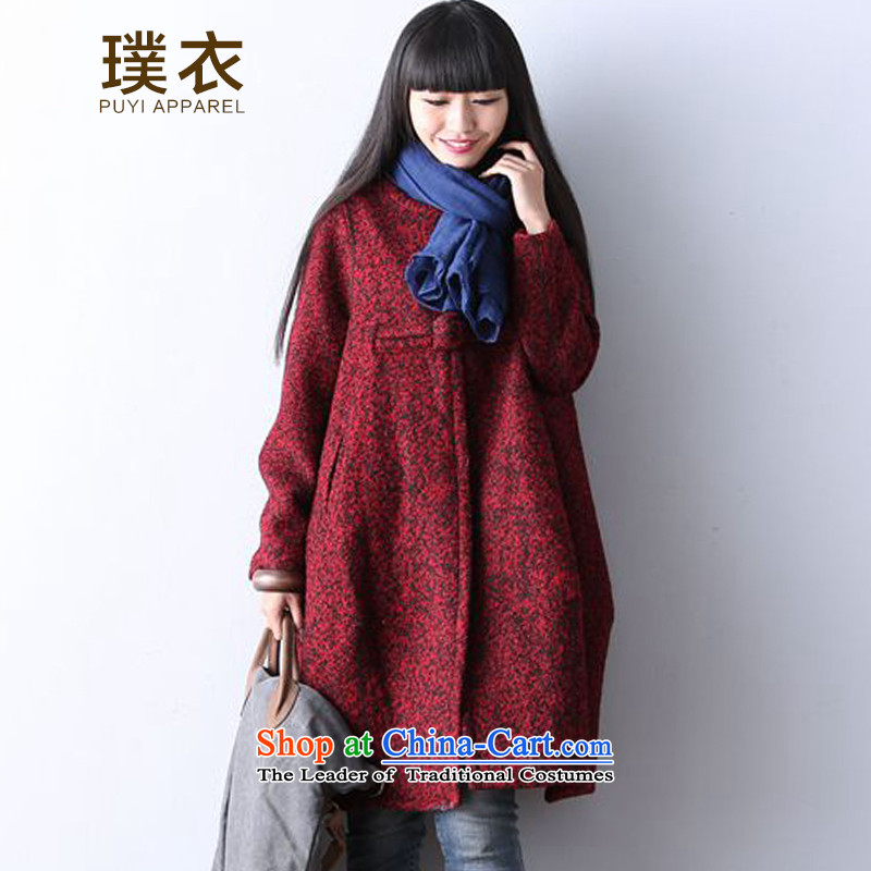 2015 winter clothing equipment new wool? Boxed large relaxd children disc detained gross coats that long? jacket, wine red XL