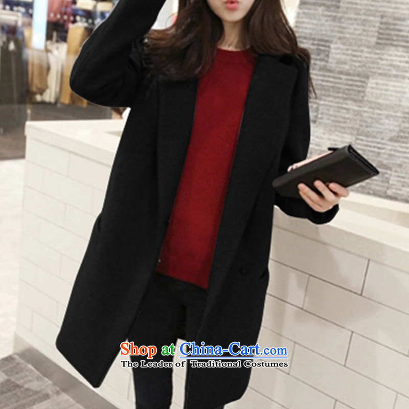 The litany of Korean m gross girls jacket? Long New Sau San thick hair? coats Black聽XL, m Xin Ulsan shopping on the Internet has been pressed.
