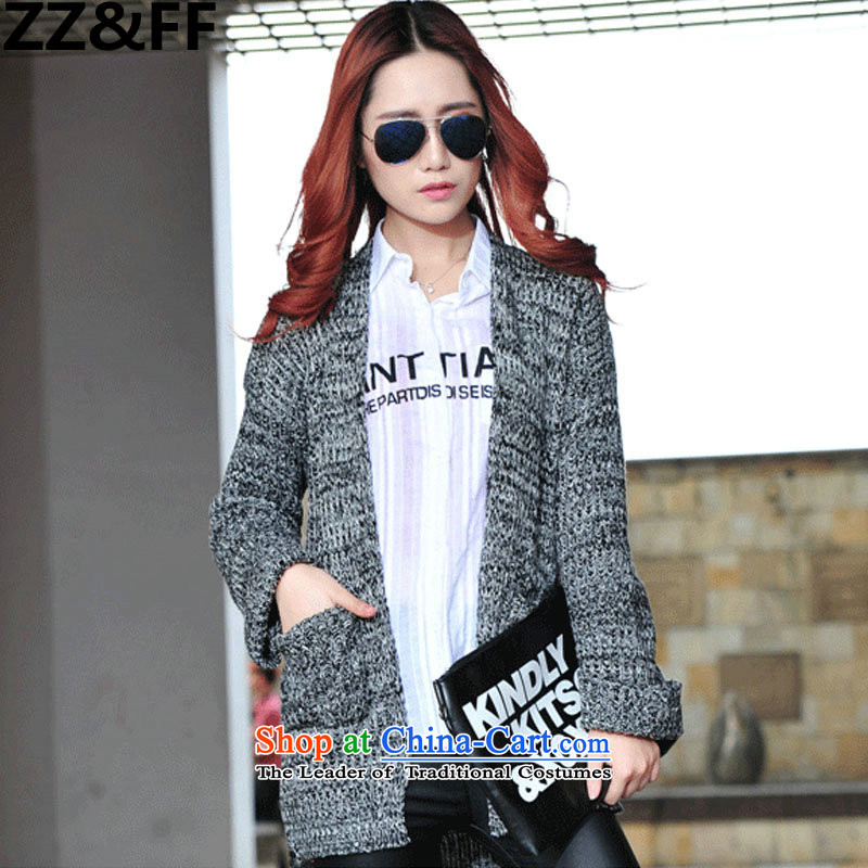 2015 Fall_Winter Collections Zz_ff thick MM real concept in 2015 Autumn and Winter Sweater, thin design picture color graphics燲XL