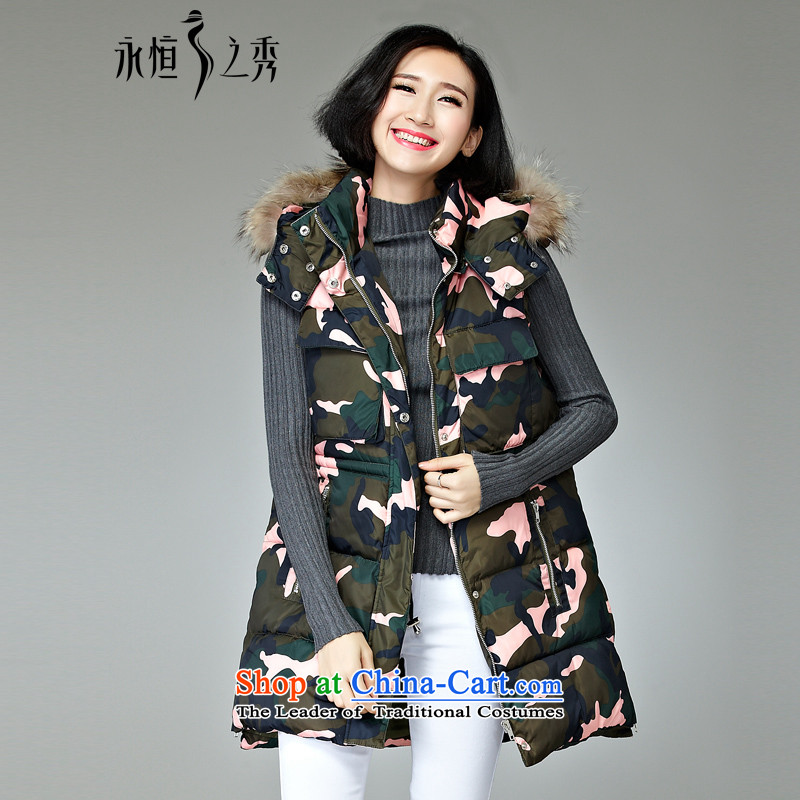 2015 MM to thick xl girl in autumn and winter jackets long new vest 泾蜮 mini-color�L