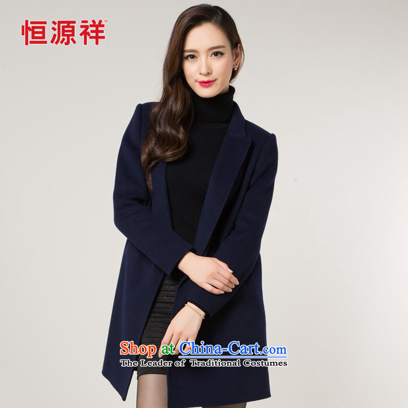 New Products ¦ Y Hengyuan Cheung double-side coats, wool sweater throughout the 2015 autumn and winter new full-length, sweater in a manual? Navy M_165 Jacket