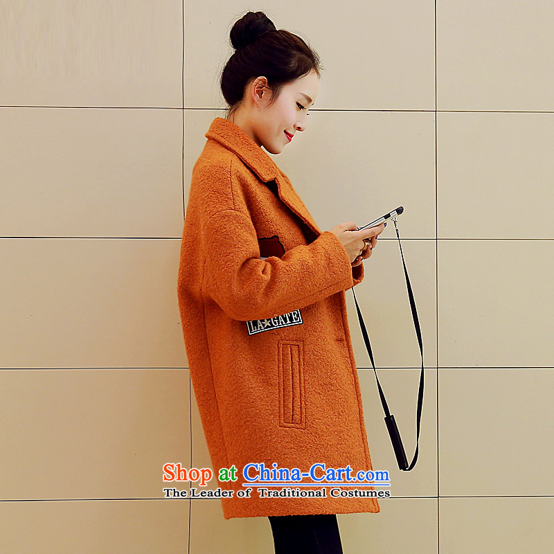 Sin has?2015 winter clothing new Korean citizenry video thin solid stylish and simple gross? Kim and thicker jackets female warm?    M