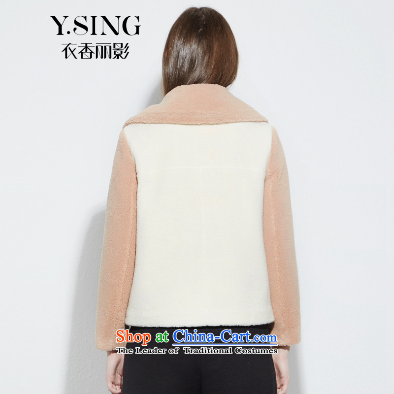 [i] to buy three from Hong Lai Ying 2015 winter clothing new Korean citizenry and color stitching lamb Maomao jacket female short)? coffee 33 S, Hong Lai Ying , , , shopping on the Internet