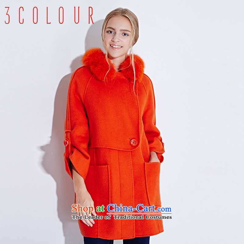Li Xue Winter 2015 New Fox for pure color in the gross long wool coat X442128D10? female Huang Hongying 170_92A_XL
