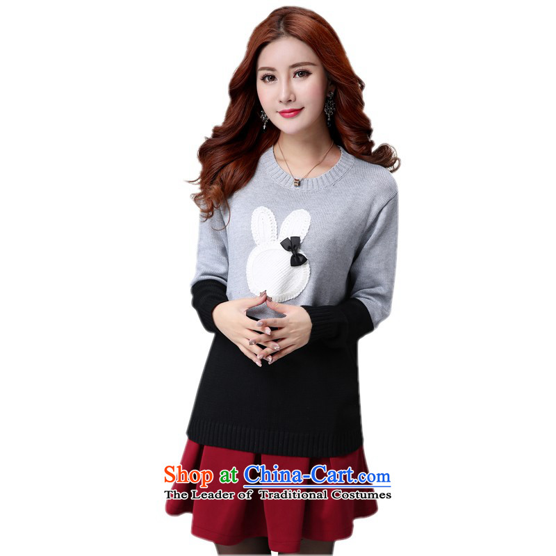 The burden of large-thick 5XL200 female mm2015 thick new sweater Fall/Winter Collections Korean sent a short skirt to knitwear sweater body skirt sweater red short skirts5XLabout 185-200 catty