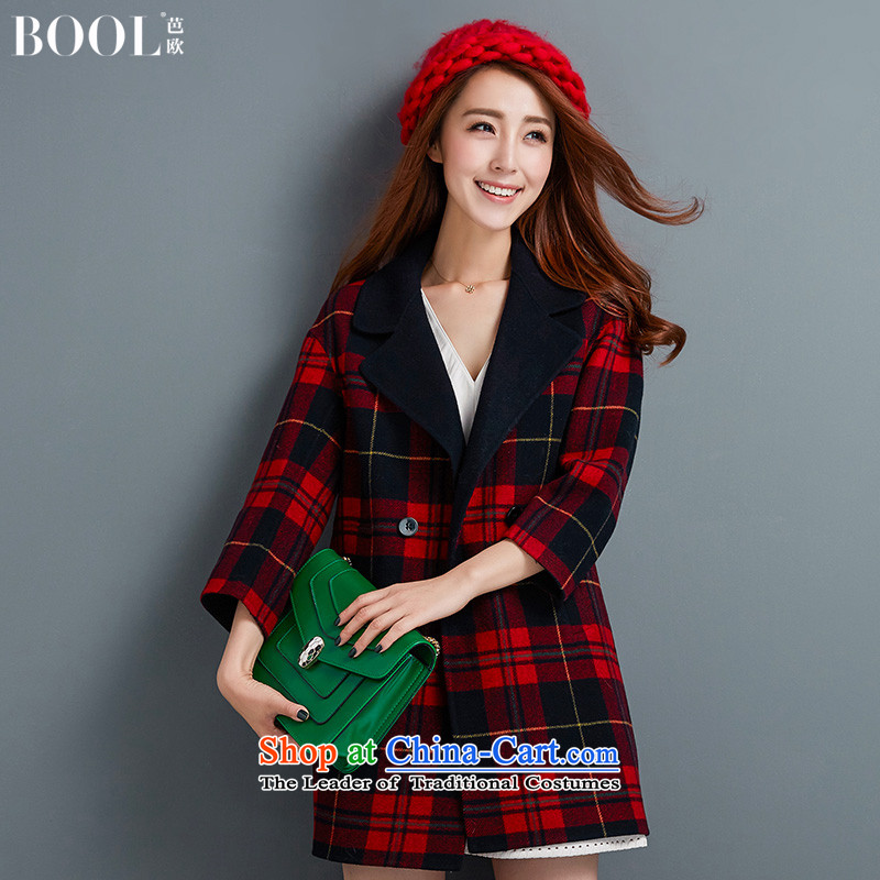 Barbara Europe 2015 autumn and winter Ms. suits for the new hand in woolen coat long gross red jacket? 20 days pre-sale M