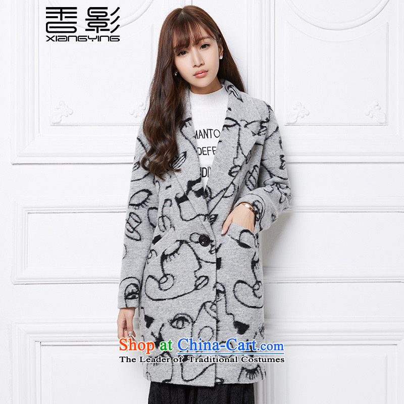 Wool Coat Heung Ying 2015? winter clothing in new long a wool coat Sau San stamp gross female gray jacket?燤